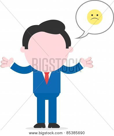 Sad Businessman Gesturing