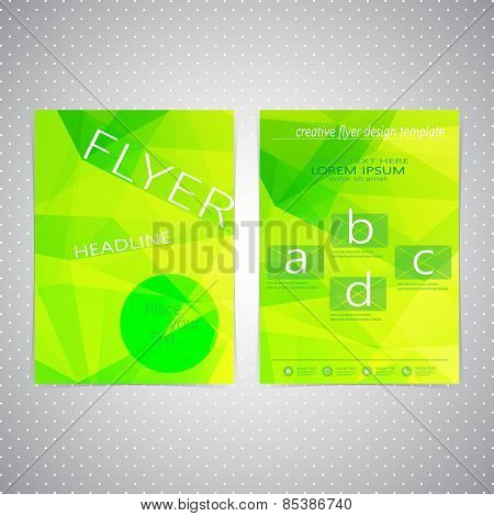 Flyer design Triangle template layout , magazine, booklet, cover or report in A4 size for your desig