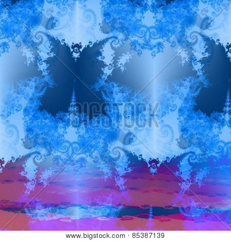 Fantasy decorative fractal butterfly background