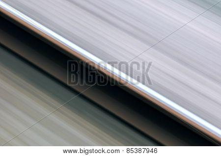 Single rail in motion speed concept railway transportation