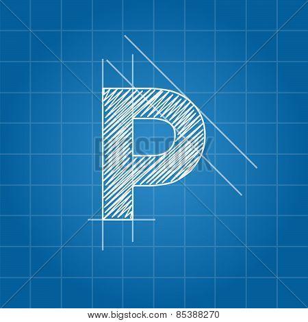 P letter architectural plan