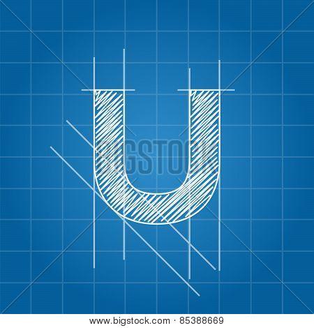 U letter architectural plan