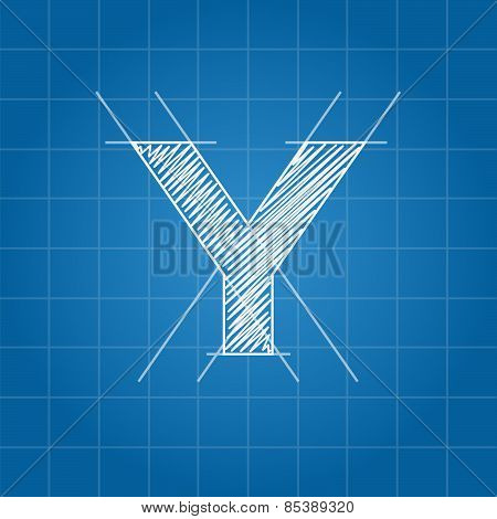 Y letter architectural plan