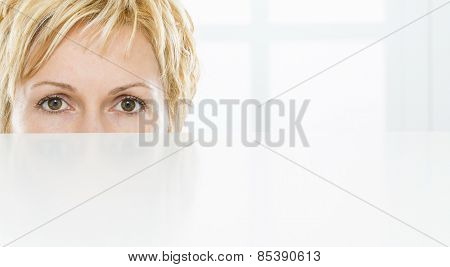 Eyes of nice, forty years old woman