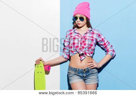 Confident Skater Girl.
