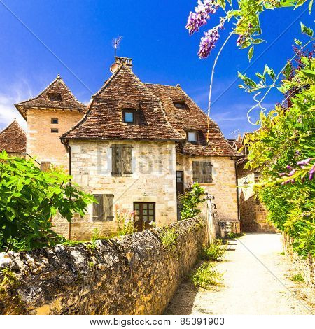 Carennac - one of the most beautiful villages in France (Lot dep