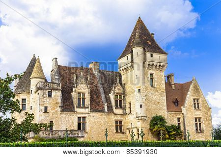 Milandes - impressive castle in France,Dordogne