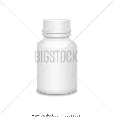 Blank medicine bottle  illustration.