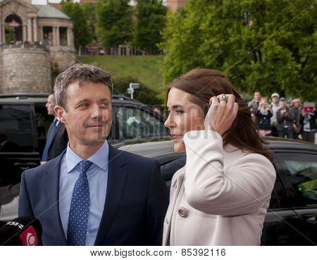 Denmark Prince Frederik And Princess Mary Visit Poland