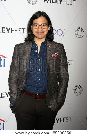 LOS ANGELES - MAR 14:  Carlos Valdes at the PaleyFEST LA 2015 -