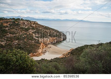 Spring Landscape With The Sea And Sandy Beach