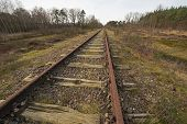 stock photo of municipal  - Old railway line  - JPG