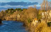 pic of orbs  - View from Beziers to the river Orb  - JPG