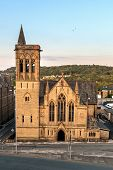 stock photo of church-of-england  - Church in Huddersfield a market town situated in West Yorkshire England - JPG