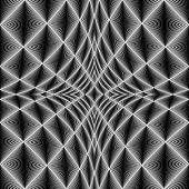 stock photo of quadrangles  - Design diamond concave texture - JPG