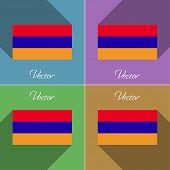 stock photo of armenia  - Flags of Armenia - JPG