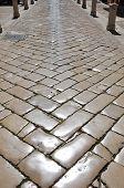 pic of cobblestone  - Street with polished cobblestones in Zadar - JPG