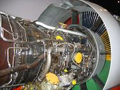 Aircraft Jet Engine -- Interior View poster