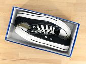 picture of shoe-box  - A close up shot of a shoe box - JPG