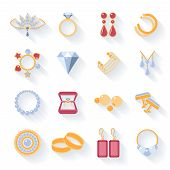 image of brooch  - Earrings and rings - JPG