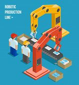 foto of robot  - Robotic production line - JPG