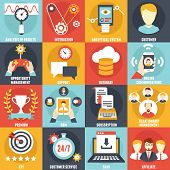 picture of customer relationship management  - Set of Customer Relationship Management Icons  - JPG