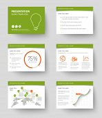 stock photo of graph  - Vector Template for presentation slides with graphs and charts  - JPG