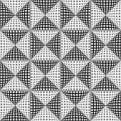 image of quadrangles  - Design seamless monochrome triangular pattern - JPG