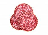 picture of salami  - Slices of salami - JPG