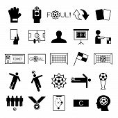 picture of offside  - Soccer icons set on white background vector illustration - JPG
