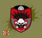 foto of paintball  - Paintball team logo and emblem - JPG