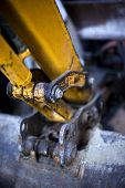 image of backhoe  - Close up of a backhoe on a construction site