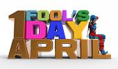 picture of fool  - 3D rendering clipart celebrating april fool - JPG