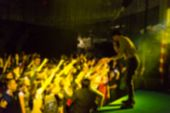 foto of rave  - Blur background of people hanging out at the concert - JPG