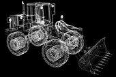 image of bulldozers  - 3d model bulldozer - JPG