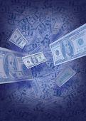image of depreciation  - falling dollar bills - JPG