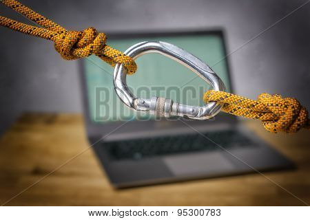 Carabiner With Laptop