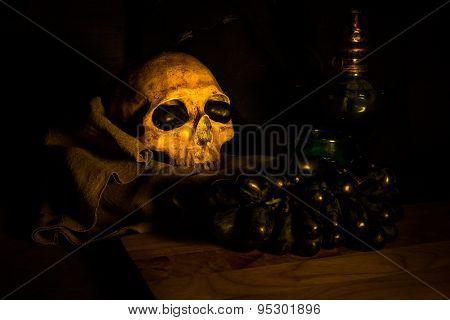 Skull And Black Grape