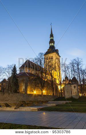 Niguliste Church In Tallinn, Estonia