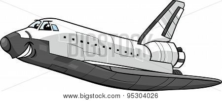 Space Shuttle Cartoon Illustration