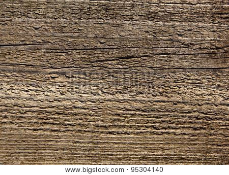 Old Weathered Wood Board Surface