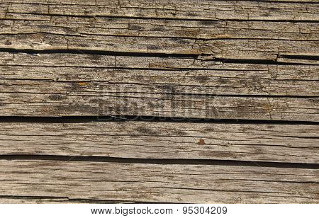 Old Shaky Weathered Wooden Board