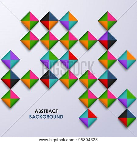 Abstract Colored Design Square Background