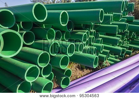 Pipes Stacked Closeup