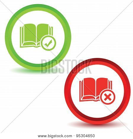 Two book manage icons