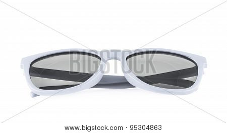 White sun glasses isolated