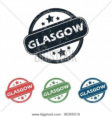 Round Glasgow city stamp set
