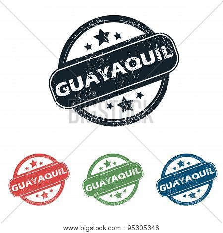 Round Guayaquil city stamp set
