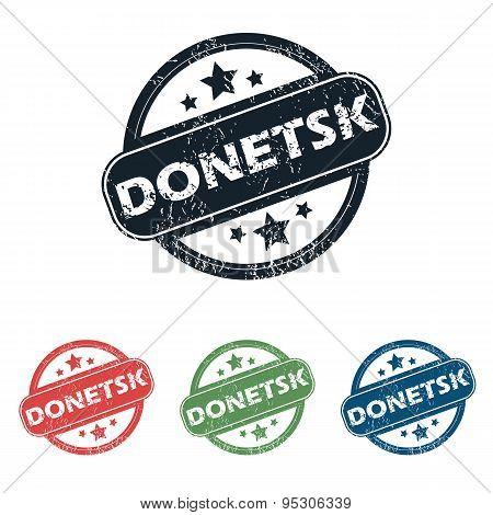Round Donetsk city stamp set