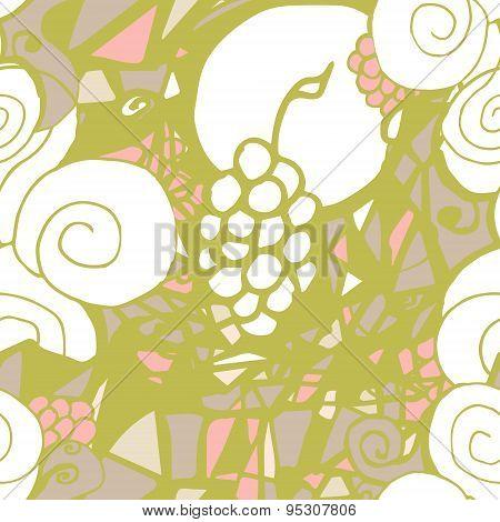Pattern Vine. Psychedelic Illustration